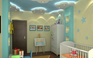 Гипсокартонный потолок в детской: преимущества и особенности конструкции
