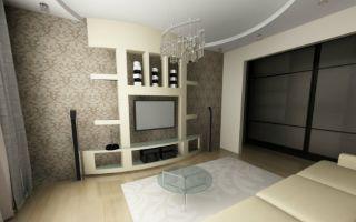 Гостиная из гипсокартона: доступно, уютно, функционально