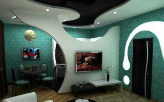 Применение гипсокартонных перегородок для зонирования пространства в комнате