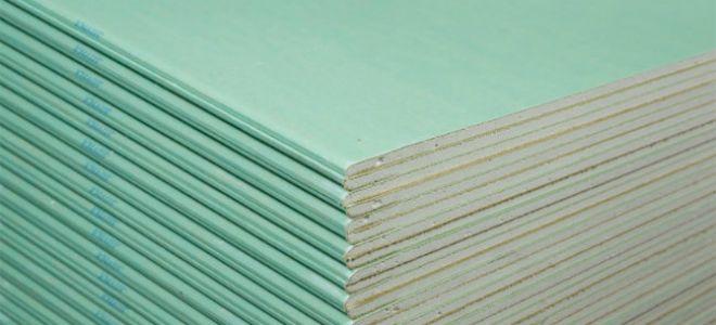 Основные характеристики влагоустойчивого гипсокартона. Его преимущества