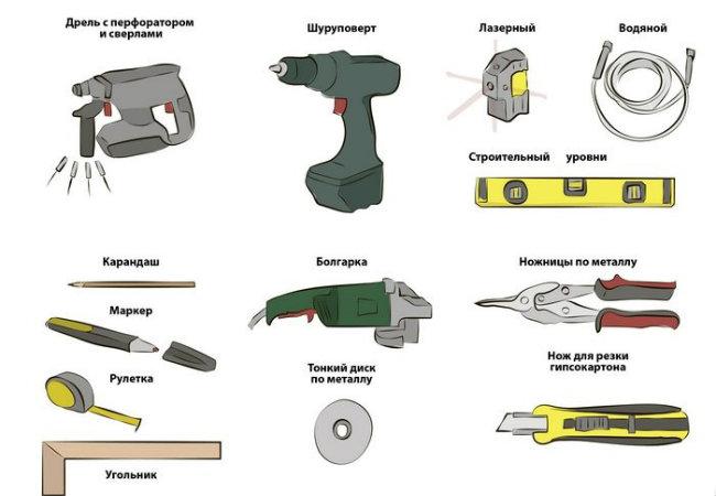 инструменты для монтажа