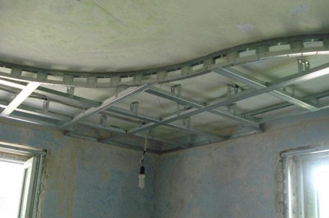 Подвесные потолки из гипсокартона своими руками пошаговая инструкция видео