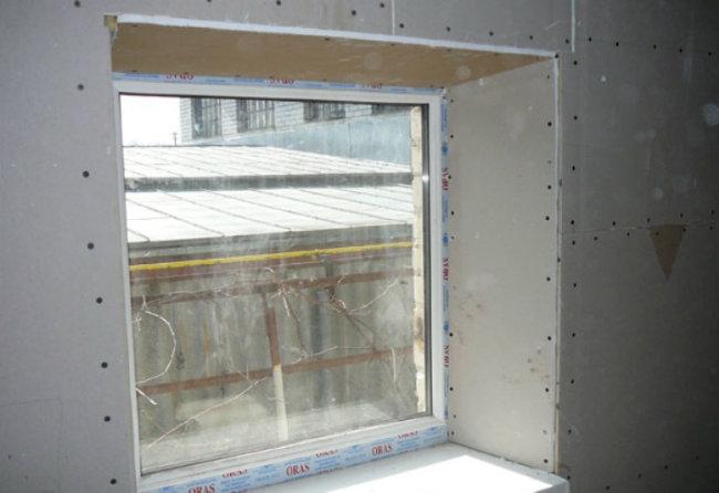 откосы на окнах из гипсокартона