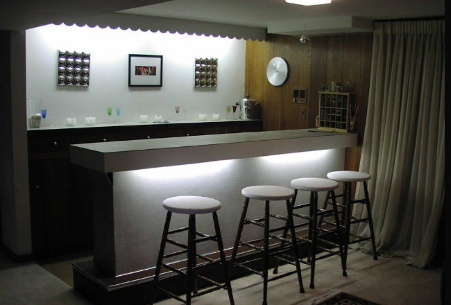бар для кухни из гипсокартона