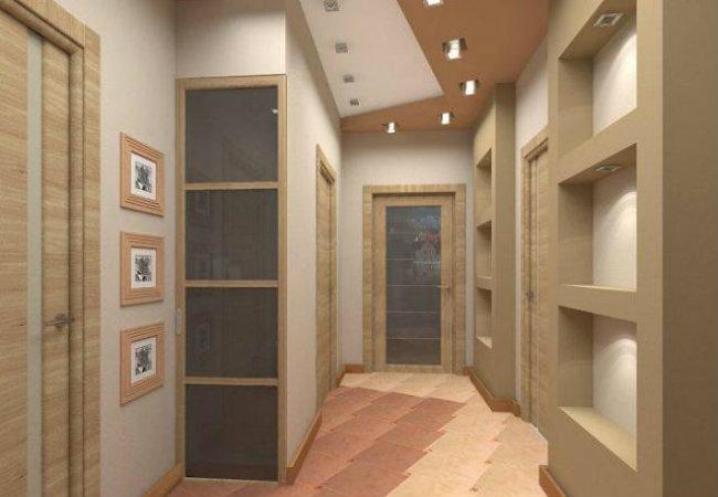 потолок в коридоре