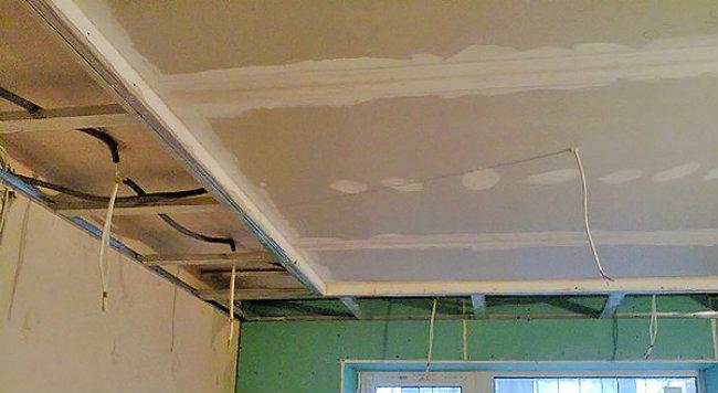 Как я сделал потолок из гипсокартона
