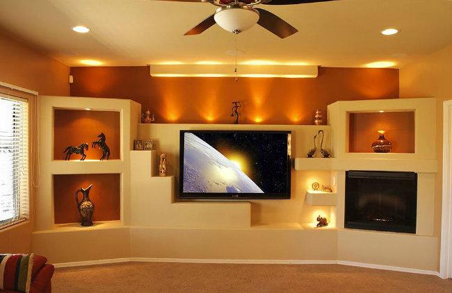 Декор из гипсокартона на стене: формы для создания неповторимого интерьера