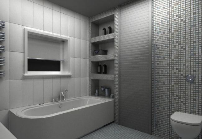 полки в ванную комнату
