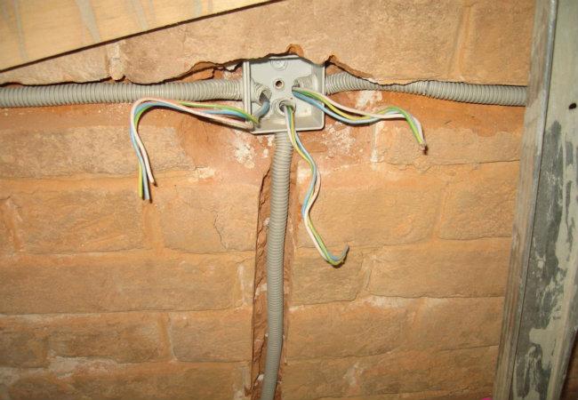 проводка под гипсокартон