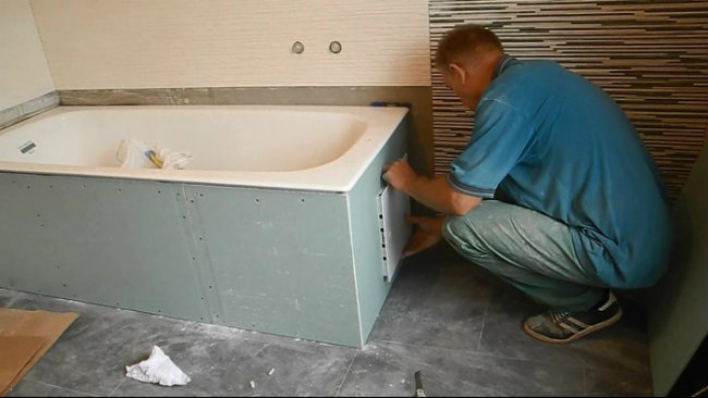 ванная в гипсокартоне