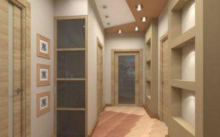 Прихожая из гипсокартона: отделка потолка