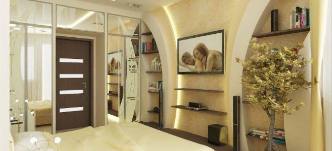Разновидности гипсокартонных конструкций в спальне