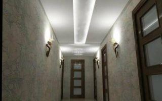 Гипсокартонный потолок в коридоре своими руками