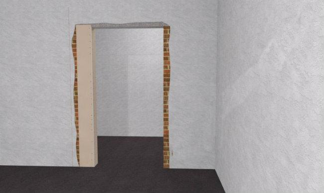 наращивание дверного проема