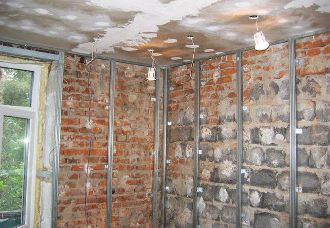 отделка внутренних стен гипсокартоном