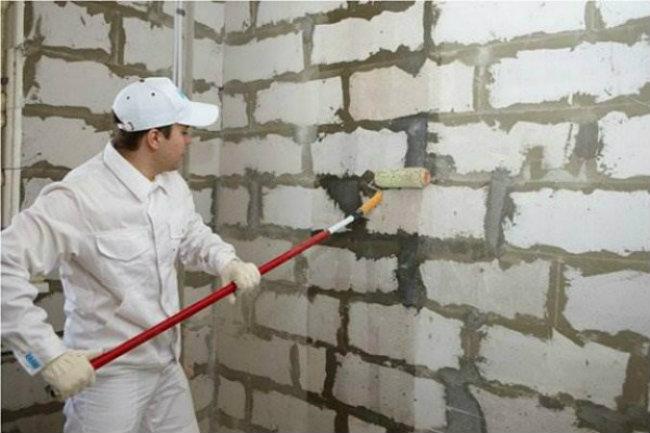 подготовка стен к приклеиванию гипсокартона