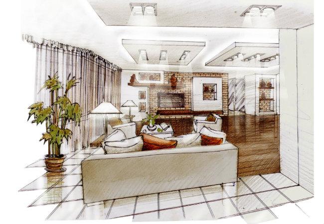 проектирование гостиной