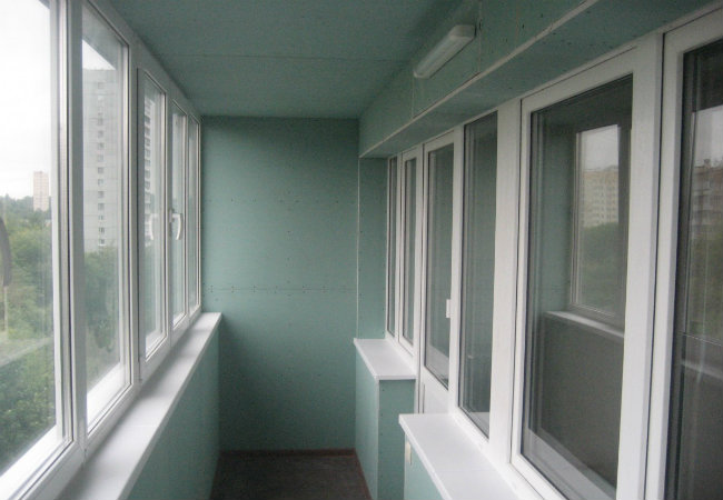 балкон из гипсокартона
