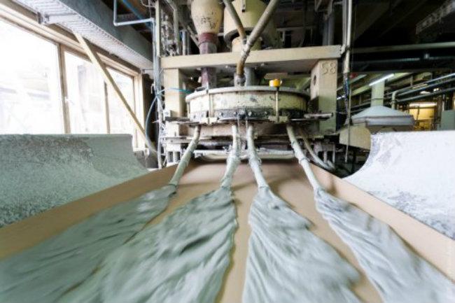 этапы производства гипсокартона