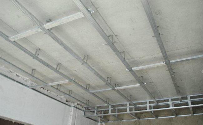 каркас для потолка из гипсокартона