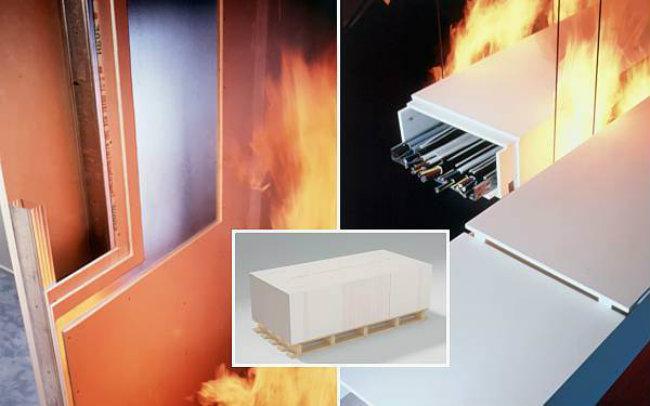 применение огнестойкого гипсокартона