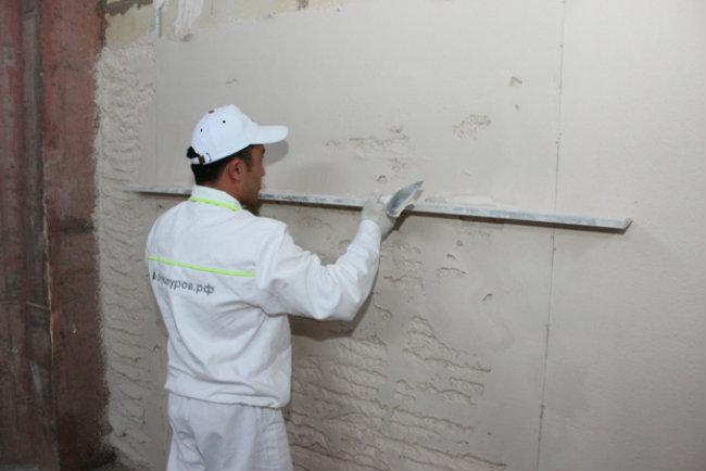 выравнивание стен гипсокартононом